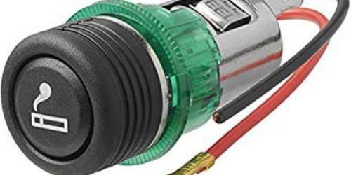 Szivargyújtó 12V 12 V-os gépjárművekbe építhető szivargyújtó, világítással. Belső ⌀: 22mm Beépítési ⌀: 27mm Minőségi utángyártott alkatrész 1900Ft